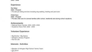 Resume Samples for Highschool Students with No Work Experience Resume for High School Students with No Work Experience