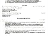 Resume Samples for Mechanical Engineering Students Mechanical Engineering Student Resume Best Resume Collection