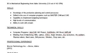 Resume Samples for Mechanical Engineering Students Mechanical Engineering Student Resume Sample