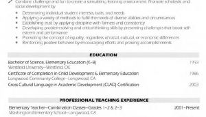 Resume Samples for Teaching Profession Teaching Resume Objective Examples Samplebusinessresume