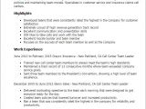 Resume Samples for Team Leader Position Professional Call Center Team Leader Templates to Showcase