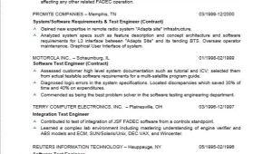 Resume Samples for Testing Professionals software Tester Resume Sample