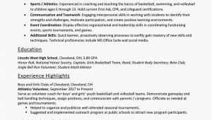 Resume Skills Examples for Students Resume Skills for High School Students with Examples