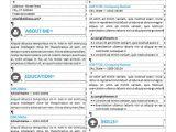 Resume Table format Word Hongdae Modern Resume Template