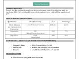 Resume Table format Word Resume format Download In Ms Word Download My Resume In Ms