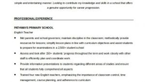 Resume Template English How to Make A Good Teacher Resume Template