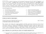 Resume Template for Construction Construction Resume Examples Project Scope Template