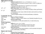 Resume Template for High School College Resumes for High School Seniors Best Resume