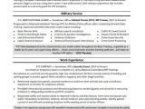 Resume Template Military Experience Military Resume Sample Monster Com