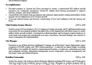 Resume Template Military Experience Sample Resume Military Experience Sample Resume