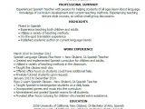Resume Templates En Espanol Professional Spanish Teacher Templates to Showcase Your