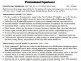 Resume Templates for Administrative Positions Sample Resume for Administrative assistant In 2016