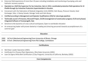 Resume Templates for Oil and Gas Industry 18 Resumes for Oil and Gas Industry