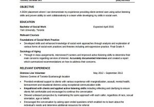 Resume Templates for social Workers 10 social Worker Resume Templates Sample Templates
