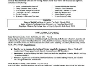 Resume Templates for social Workers Career Objective for social Worker Resume Resume Ideas