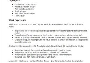 Resume Templates for social Workers Professional Medical social Worker Templates to Showcase