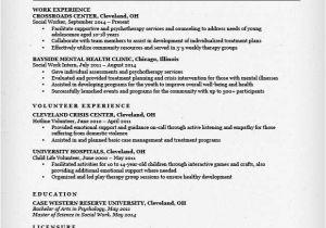 Resume Templates for social Workers social Work Resume Sample Writing Guide Resume Genius