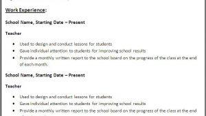 Resume Templates for Teaching Jobs Professional Teaching Job Resume Template for All Teachers