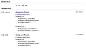 Resume Using Basic HTML Tags 25 Free HTML Resume Templates for Your Successful Online