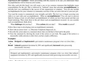 Resume with Achievements Sample Accomplishments for A Resume Examples Resume Ideas