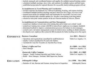 Resume with Achievements Sample Achievement Resume