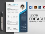 Resume with Photo In Word format Free Download Creative Design Cv Resume Word