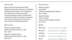 Resume Word format for Graphic Designer Graphic Designer Resume Template 17 Free Word Pdf