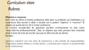 Resumen Profesional Y Laboral Para Curriculum Modelo De Curriculum Vitae Objetivo Laboral Modelo De
