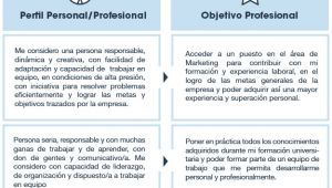 Resumen Profesional Y Laboral Perfil Personal Y Objetivo Profesional Usvirtualempleo
