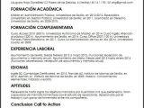 Resumen Y Objetivo Profesional Ejemplo Cv Administrador General Micvideal