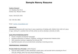 Resuming Letter Sample Babysitter Resume Sample Template Learnhowtoloseweight Net