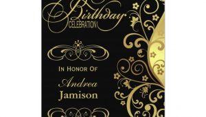 Retirement Party Invitation Card India Black and Gold 80th Birthday Party Invitation Zazzle Com