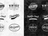 Retro Logo Template Psd Great Logotype Badge Resources Type