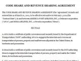 Revenue Sharing Contract Template Code Share and Revenue Sharing Agreement Sample Code