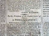 Revolutionary War Newspaper Template War Of 1812 Begins Declaration Of War United States Vs