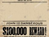 Reward Posters Template Vector Vintage Wanted Poster Template All Stock Vector
