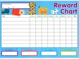 Reward Sheet Template Reward Chart Template Kiddo Shelter