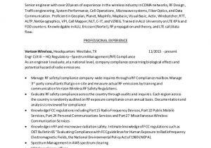 Rf Engineer Resume Resume Rf Engineer Baseline 02162015