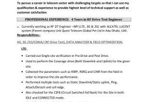 Rf Engineer Resume Rf Engineer Arshad Cv