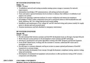 Rf Engineer Resume Rf Systems Engineer Resume Samples Velvet Jobs