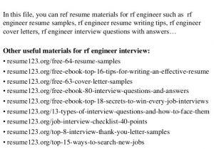 Rf Engineer Resume top 8 Rf Engineer Resume Samples