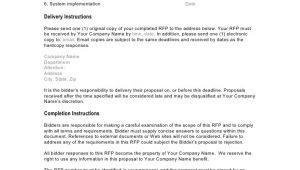 Rfp Questions Template Crm Rfp Template