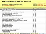 Rfp Requirements Template New Business Intelligence Bi Rfi Rfp Template Released