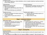 Rigorous Curriculum Design Template Download Rigorous Curriculum Design Template Free