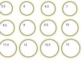 Ring Sizing Template Jewelry Sizing Guide