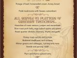 Roman Menu Template Medieval Banquet Menu Geronimo Stilton Medieval Times