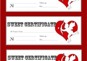Romantic Gift Certificate Template Romantic Gift Certificate Template Gallery Certificate