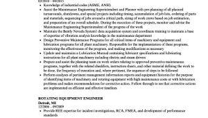 Rotating Equipment Engineer Resume Rotating Equipment Engineer Resume Samples Velvet Jobs