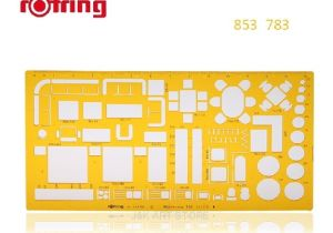 Rotring Furniture Template Rotring Architects Furniture Template Scale 1 50 In Rulers