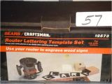 Router Lettering Template Sets 57 Craftsman 92573 Router Lettering Template Lot 57